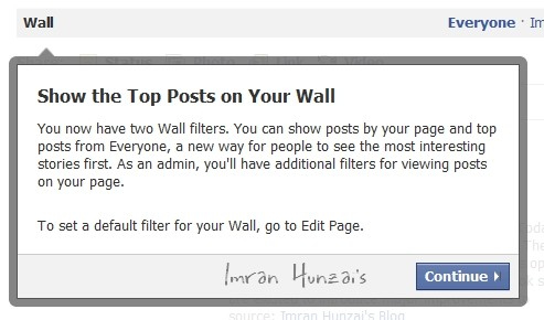 Show the Top Posts on Your Wall