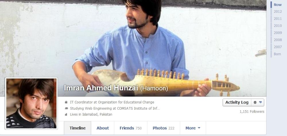 Facebok new profile design